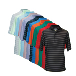 9806 Greg Norman Protek Micro Pique Stripe Polo
